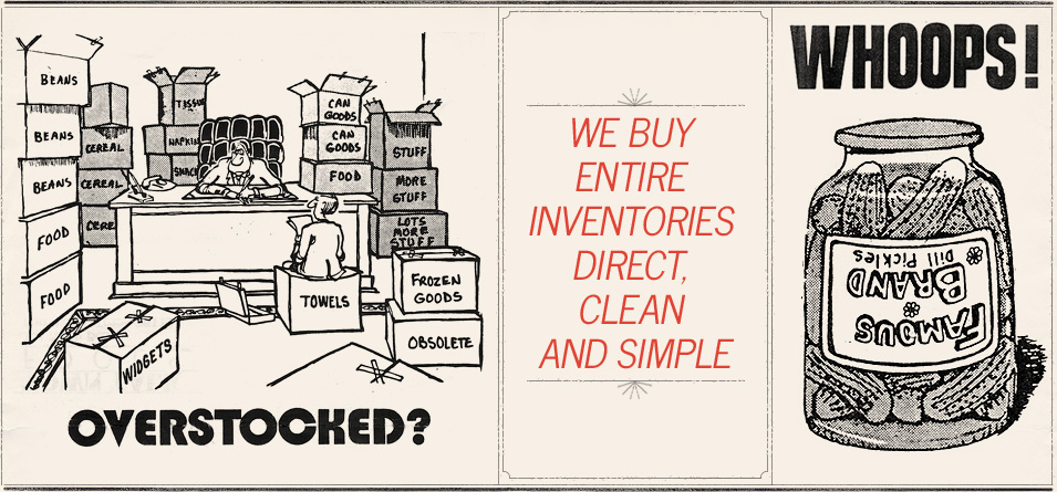 We Buy Entire Inventories Direct, Clean and Simple